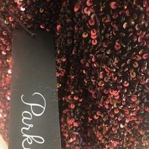 Red& Black sequins dress